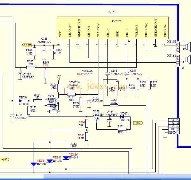 西湖m21a11电视功放集成块型号参数如下